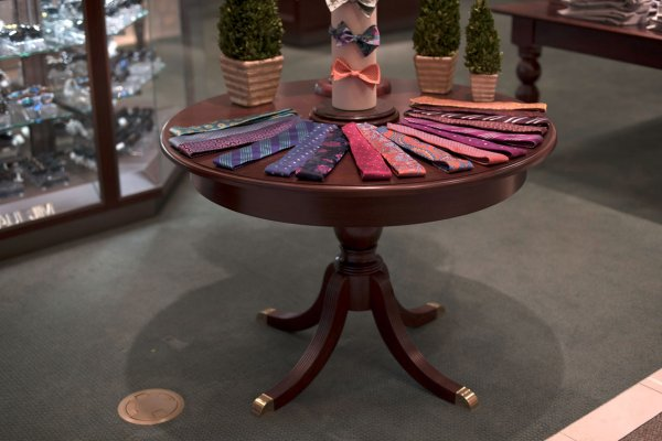 Menswear Accessory Tables
