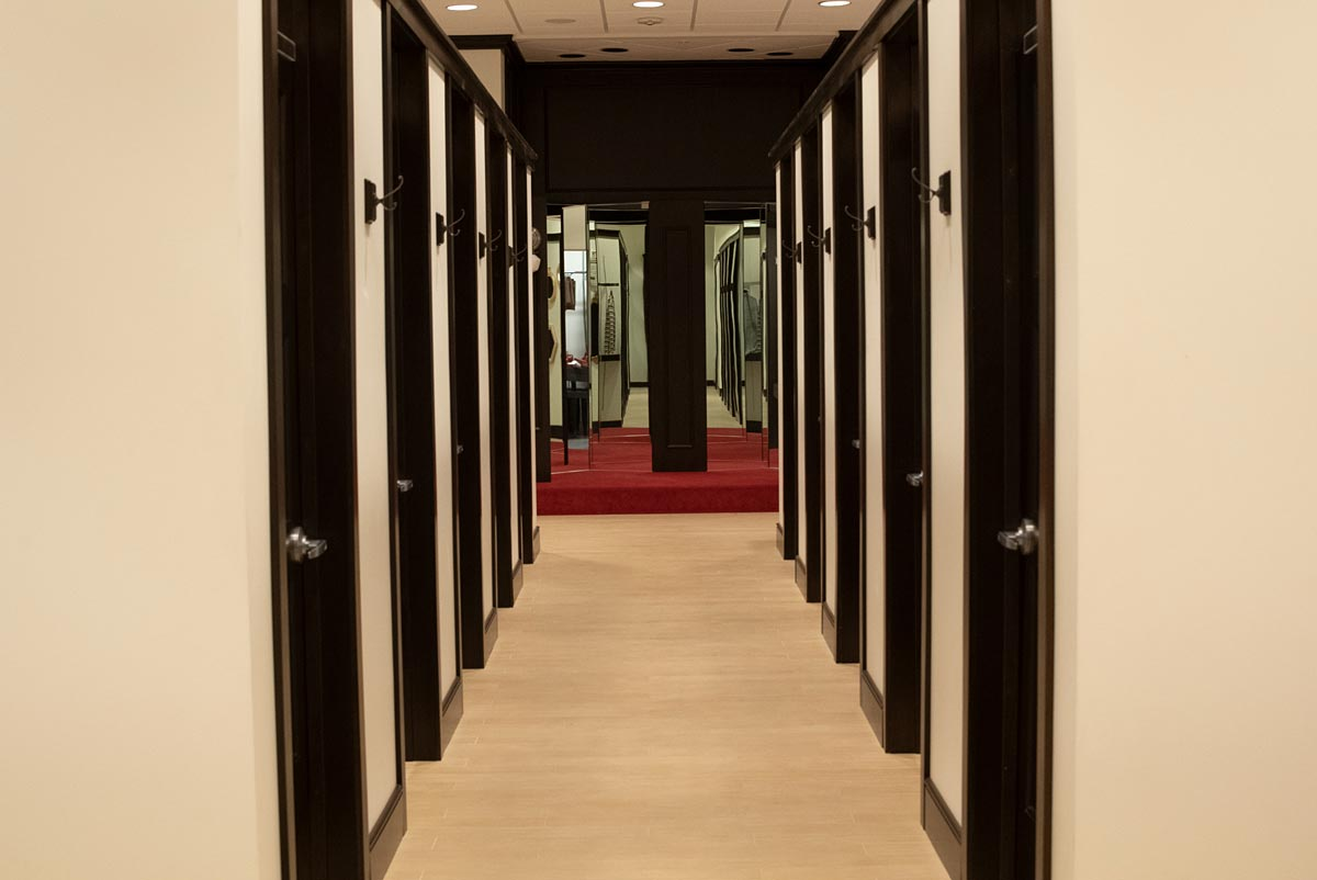 Fitting Room Fixtures by Stirling - Hallway