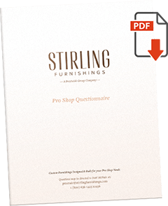 Stirling Furnishings Pro Shop Questionnaire PDF Cover